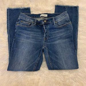 We The Free Boho Raw Hem Crop Wide Leg Jeans